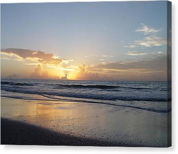 Canvas Print featuring the painting Florida Sunrise  by Elizabeth Sullivan