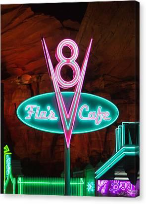 Flo's V8 Cafe - Cars Land - Disneyland Canvas Print by Heidi Smith