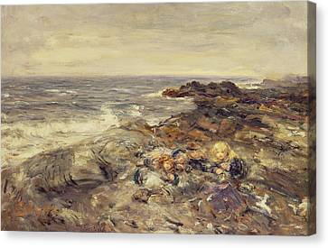 Flotsam And Jetsam Canvas Print by William McTaggart