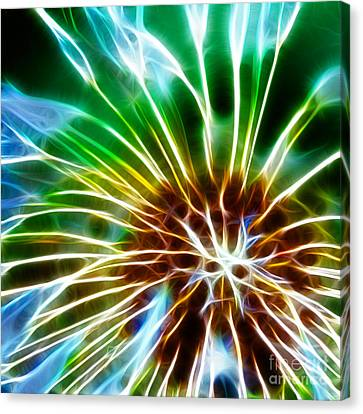 Flower - Dandelion Tears - Abstract Canvas Print by Paul Ward