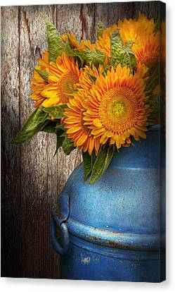 Flower - Sunflower - Country Sunshine Canvas Print by Mike Savad