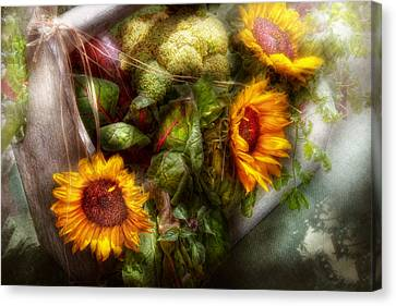 Flower - Sunflower - Gardeners Toolbox  Canvas Print by Mike Savad