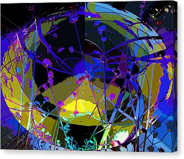 Canvas Print featuring the digital art Flower Abstract by Anne Mott