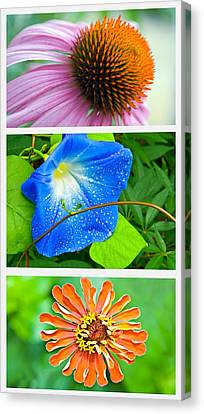 Flower Collage Part Two Canvas Print by Susan Leggett