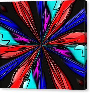 Canvas Print featuring the digital art Flower Daze Nights by Alec Drake