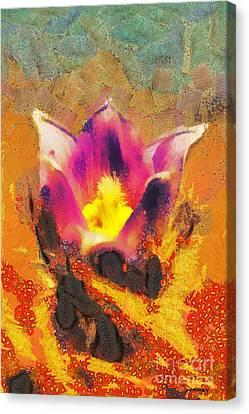Flower Paint Canvas Print by Odon Czintos