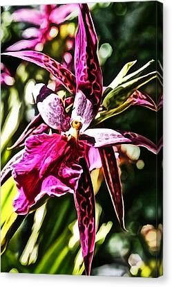 Flower Painting 0002 Canvas Print by Metro DC Photography