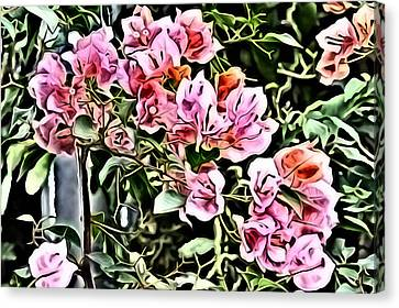 Pistol Canvas Print - Flower Painting 0003 by Metro DC Photography