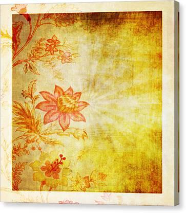 Flower Pattern Canvas Print by Setsiri Silapasuwanchai