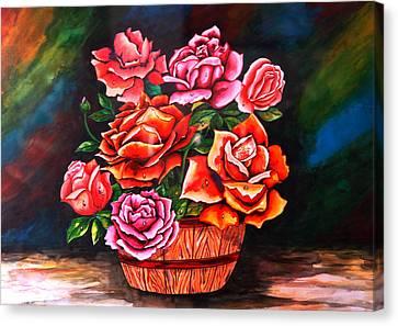 Flower Pot Canvas Print by Johnson Moya
