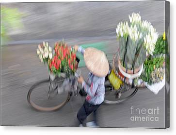 Flower Seller Canvas Print