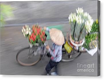 Flower Seller Canvas Print by Marion Galt