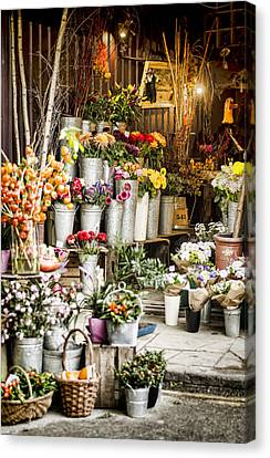 Flower Shop Canvas Print by Heather Applegate