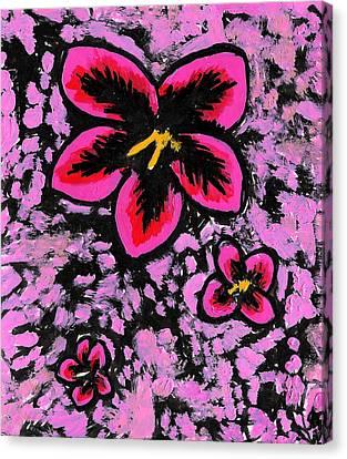 Flower Trio Canvas Print by Jera Sky