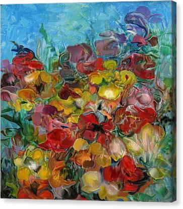 Flowers 2 Canvas Print by Eric Sosnowski