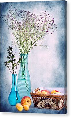 Flowers And Fruits Canvas Print by Angela Doelling AD DESIGN Photo and PhotoArt