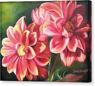 Canvas Print featuring the painting Flowers For Mom I by Lori Brackett
