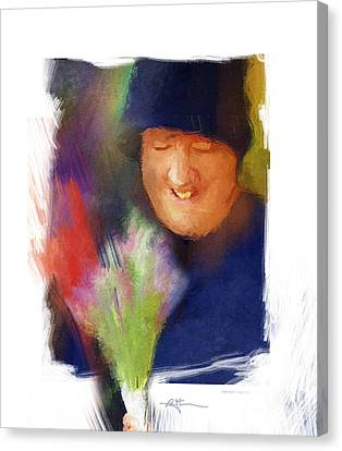 Flowers For Sale Canvas Print by Bob Salo