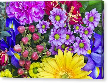 Flowers For The Spring Girlfriend Canvas Print