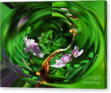 Canvas Print featuring the photograph Flowers Gone Wild by Cindy Manero
