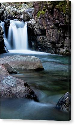 Canvas Print featuring the photograph Flowing Falls by Justin Albrecht