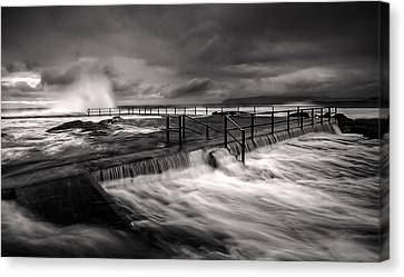 Flowing Mood Canvas Print by Mark Lucey