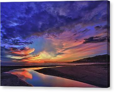 Flowing Out To The Ocean Canvas Print