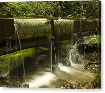 Grist Mill Canvas Print - Flowing Water From Mill by Andrew Soundarajan