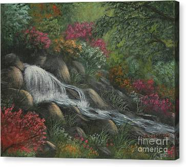 Canvas Print featuring the painting Flowing Waters by Kristi Roberts