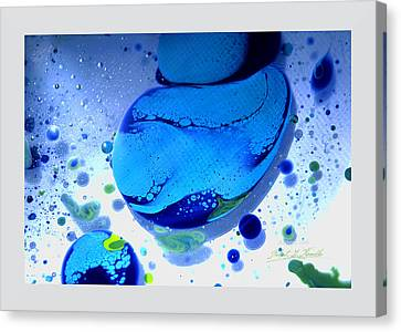 Fluidism Aspect 166 Frame Canvas Print by Robert Kernodle