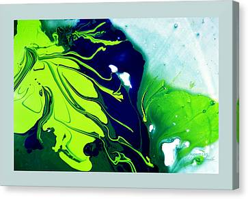 Fluidism Aspect 185 Frame Canvas Print by Robert Kernodle