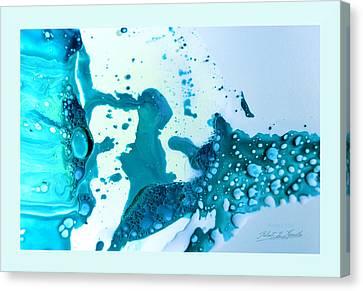 Fluidism Aspect 468 Frame Canvas Print by Robert Kernodle