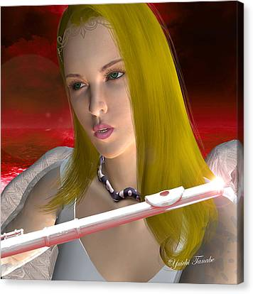 Flute Angel 1 Canvas Print