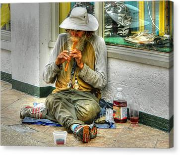 Flute Player Canvas Print by David Mcchesney