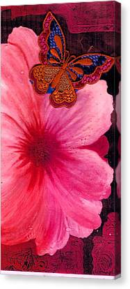 Flutter By The Flower  Canvas Print by Anne-Elizabeth Whiteway