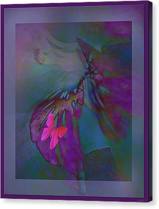 Flutter Of The Butterfly Canvas Print by Debra     Vatalaro