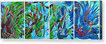 Fluttering Canvas Print by Christine Bonnie Ghattas