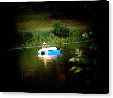 Fly Fishing Canvas Print by Michael L Kimble