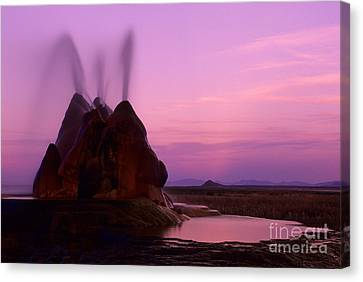 Fly Geyser Sunset 1 Canvas Print by Bob Christopher