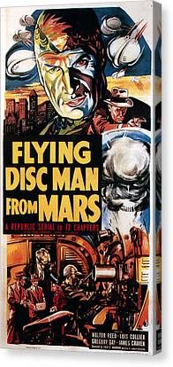 1950 Movies Canvas Print - Flying Disc Man From Mars, 1950 by Everett