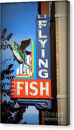 Flying Fish Canvas Print by J Kinion