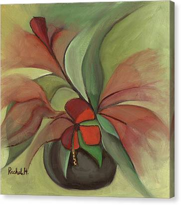 Flying Flowers Canvas Print by Rachel Hershkovitz