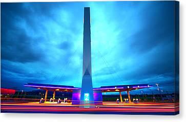 Licht Canvas Print - Flying Fuelstation by Thomas Splietker