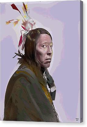 Flying Hawk Canvas Print by Charles Shoup