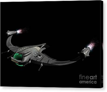 Flying Machine Inspired By The Martians Canvas Print by Rhys Taylor