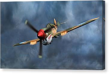 Flying Tiger P-40 Warhawk Canvas Print by Walter Colvin