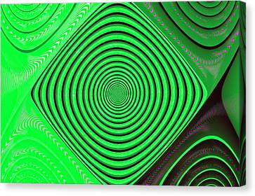 Focus On Green Canvas Print by Carolyn Marshall