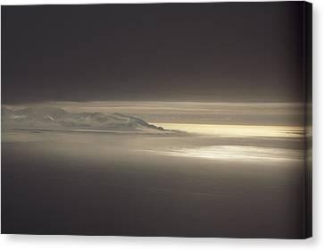 Fog And Sunlight Over Polar Canvas Print by Gordon Wiltsie