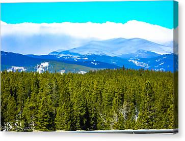Canvas Print featuring the photograph Fog In The Rockies by Shannon Harrington