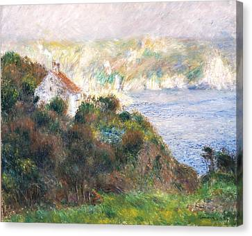 Fog On Guernsey Canvas Print by Pierre Auguste Renoir